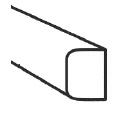 GOVAplast 2 ronde hoeken 4,5x6x391