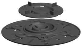Terrasdrager PL17-23mm C3/4T- verstelbaar 17-23mm voor tegels