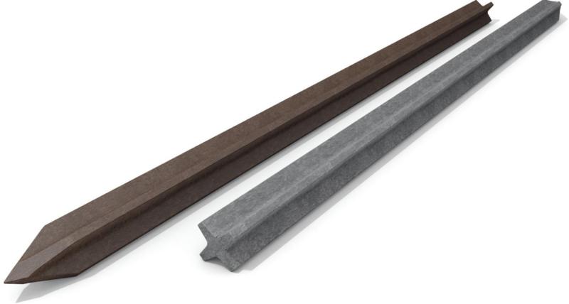 ECO-line Kruisprofiel met punt 7 x 7 x 150 tot 240 cm