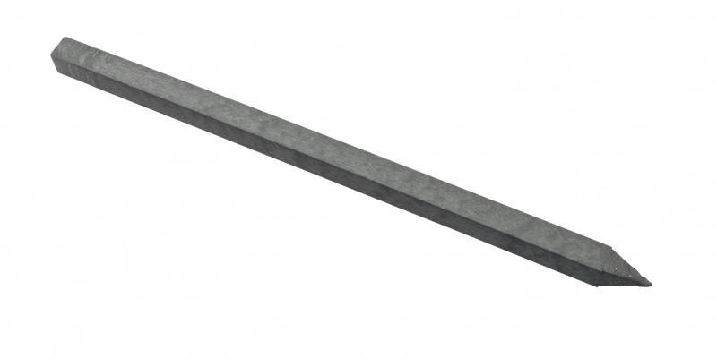 ECO-line paal met punt 9x9x300cm (grijs)