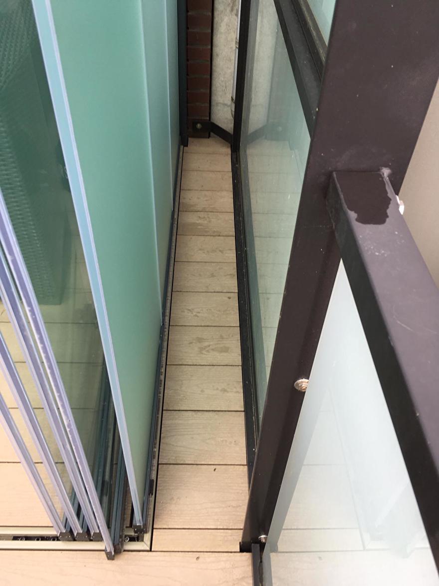 Kleine stukjes terrasplank