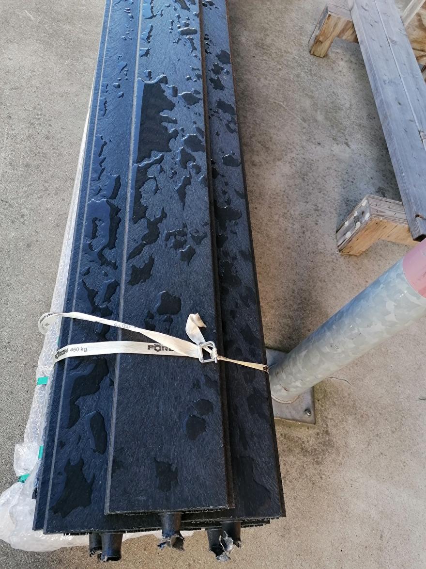 Tand groef planken kunststof