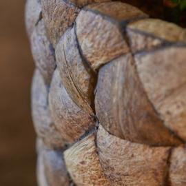 Round bowl coconut doorsnee 40 cm