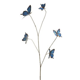 Butterfly decoration tak blauw