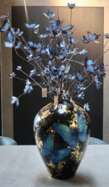 Butterfly decoration tak blauw