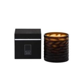 Geurkaars  'Handcut'  ICCI Home collection,  geur Oriënt black
