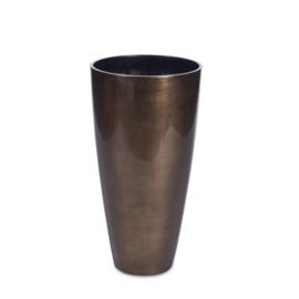 Vaas bronze 75 cm hoog x 39 cm doorsnee