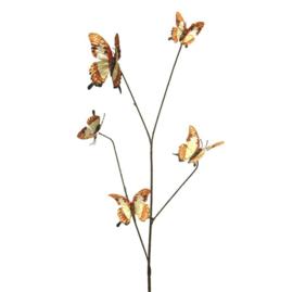 Butterfly decoration tak geel