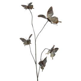 Butterfly decoration tak grijs