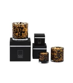 Geurkaars  'Leopard'  ICCI Home collection,  geur Oriënt black 15x15