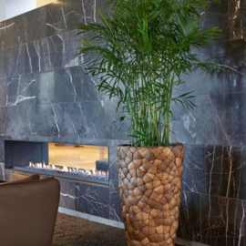 Vaas handmade coconut, 75 cm hoog x 39 doorsnee