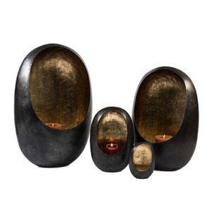 Standing egg T – Light holder Zinc Antique