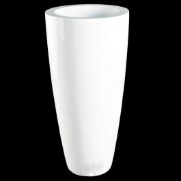 Vaas hoogglans wit Ø 37 x 80 Leverbaar in verschillende kleuren