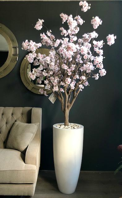 Bloesemboom light pink de Luxe,  150 hoog. Prijs excl. vaas.