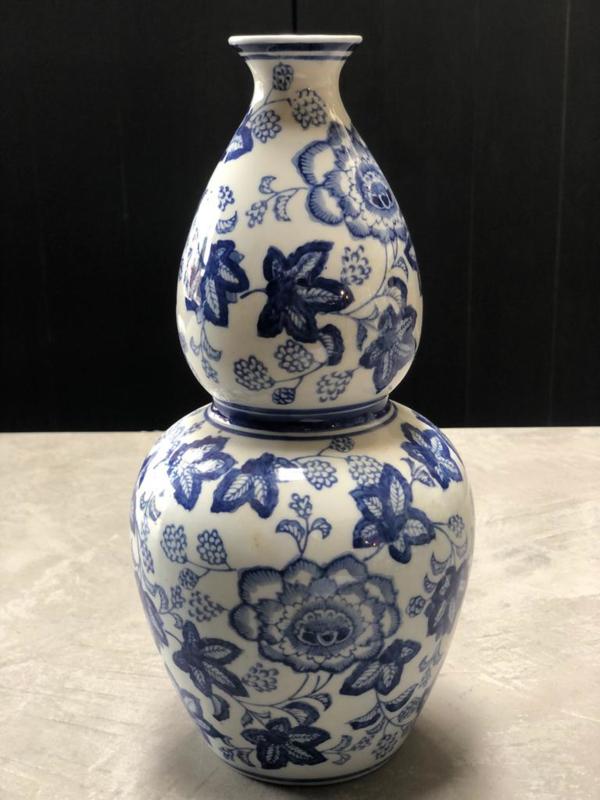 Delfts blauwe vaas H 33 x B 17 x L 17