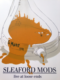 Sleaford Mods loose ends gigposter