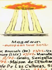 Megafaun european tourposter 2012