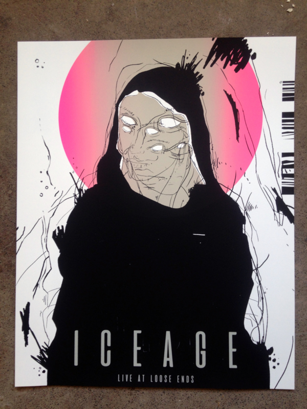 Iceage loose ends gigposter