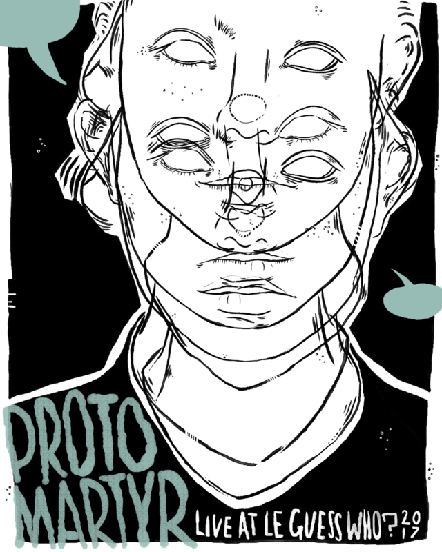Protomartyr screenprinted gigposter