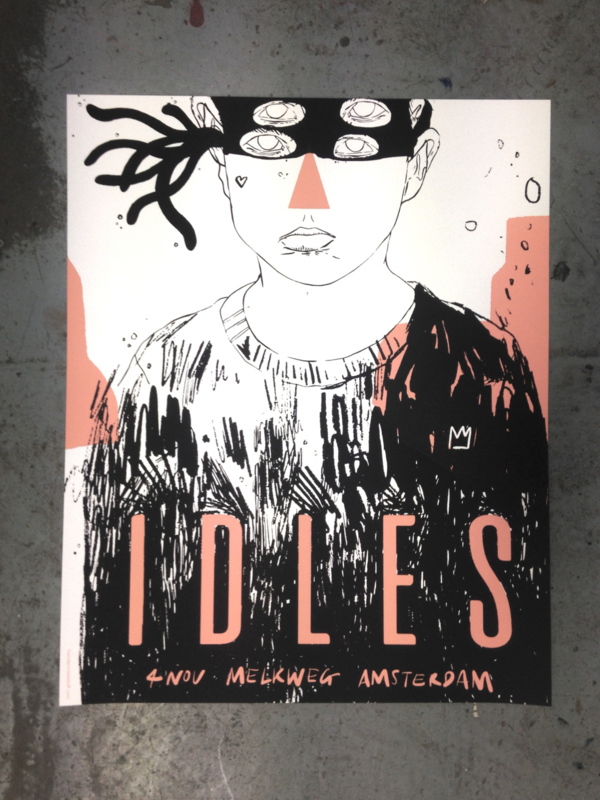 IDLES gigposter