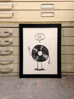 Hi ! art print