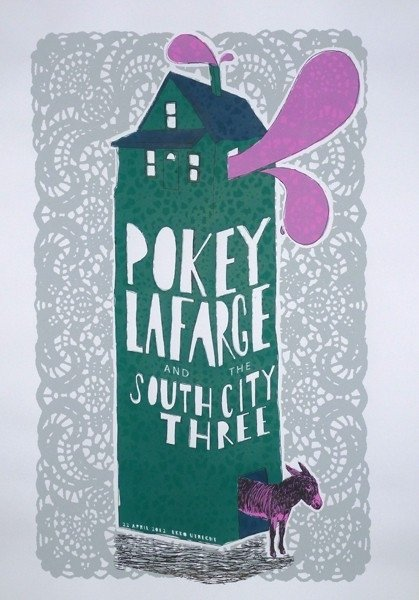 Pokey Lafarge And The South City Three Gig Posters Jorisdiks