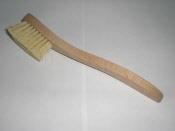Fonteinborstel fiber houten steel