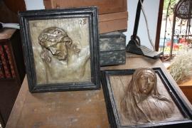 Set Reliëf schilderijen gips