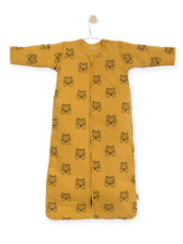 Baby slaapzak Tiger mustard met afritsbare mouwen