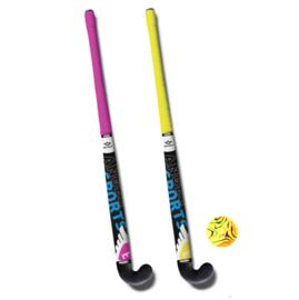 Hockeyset Roze en Geel 33''