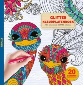 Glitterkleurplatenboek - Animals