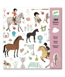 DJECO - 160 stickers Paarden