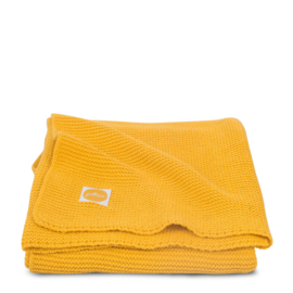 Jollein deken basic knit 75x100cm Oker geel