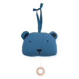 Muziekknuffel - Animal Club - jeans blauw