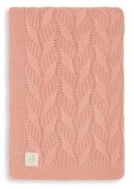 Jollein Deken wiegdeken 75x100cm Spring knit rosewood