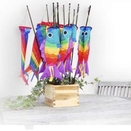 Didak Kites - Windzak Regenboogvis klein