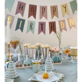 Jabadabado Vlaggenlijn Happy Birthday Goud