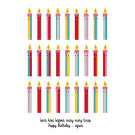 Postkaart - Verjaardag - kaarsjes