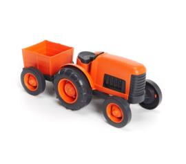 Greentoys trekker oranje met aanhanger