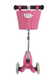 Microstep - Fiets/Step mandje roze