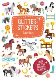 Glitterstickers boek Paarden