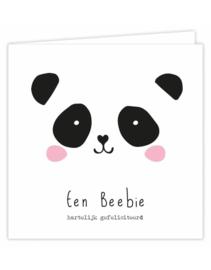 Dubbele wenskaart - Een Beebie