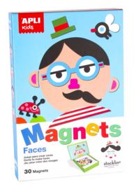 APLI - Gezichten Magneetkaart (bord 28x18cm, 30 magneten)