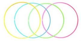 Hoelahoop - 4 kleuren - maten