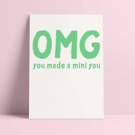 Postkaart - Geboorte - You made a mini you