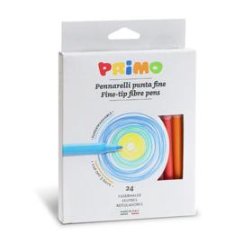 PRIMO - 24 fine-tip punt-Ø 2,5 mm  viltstiften uitwasbaar