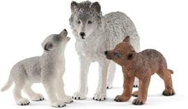 Schleich - moeder wolf en pups (42472)