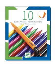 Djeco Stiften met penseelpunt - Klassieke kleuren