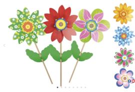 Giobas Windmolen bloemen (76cm)