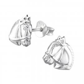 Zilveren paardenhoofd oorsteker